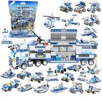 762 шт. городской полиции робот самолет модель автомобиля набор строительных блоков SWAT создатель сборки блоки, Детские кубики, развивающие и...