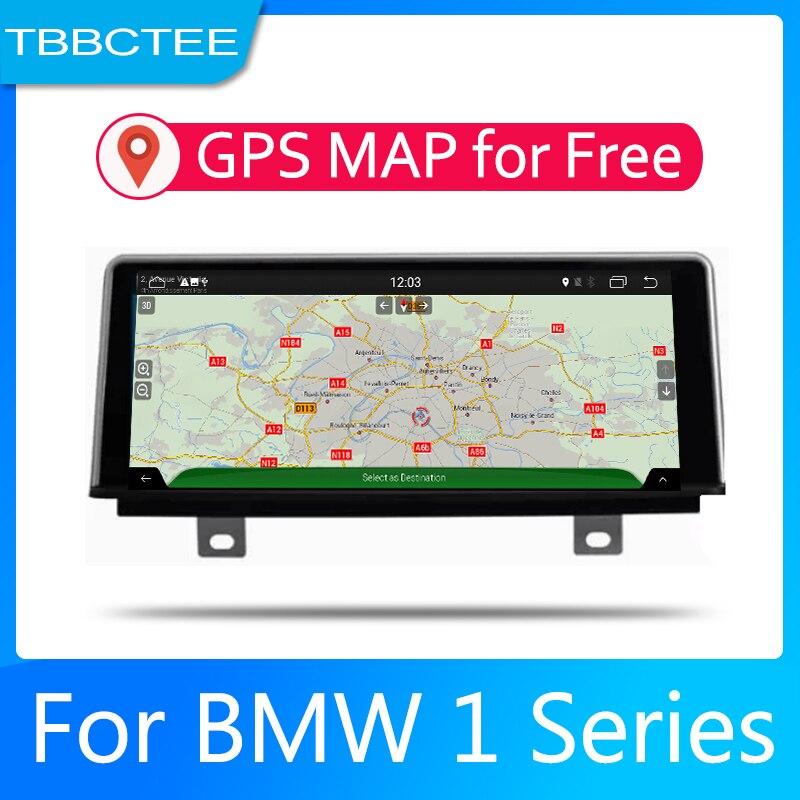 Sistema Android para coche 1080P IPS pantalla LCD para BMW serie 1 F20 F21 2011-2016 NBTCar reproductor de Radio navegación GPS BT WiFi AUX