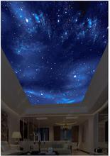 Benutzerdefinierte decke tapete 3d zenit wandmalereien tapeten HD große bild schöne starry sky zenit decke malerei hintergrund wand