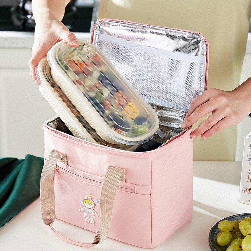 Большая Портативная сумка для ланча для женщин, Мультяшные водонепроницаемые Удобные сумки-кулеры для пикника, контейнер для ланча, сумки д...