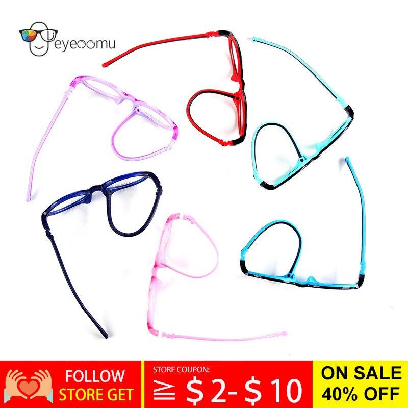 EYEOOMU New Kids Baby Eyeglasses Detachable Children Glasses Boys&Girls Soft Silicone TR90 Round Opt