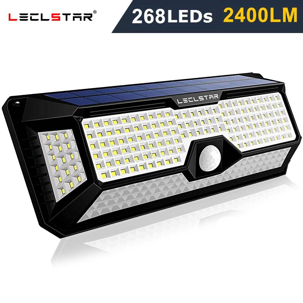 Outdoor Lighting Solar Motion Sensor Light 268 LED Bulb Solar Power Lamp Waterproof Security Street