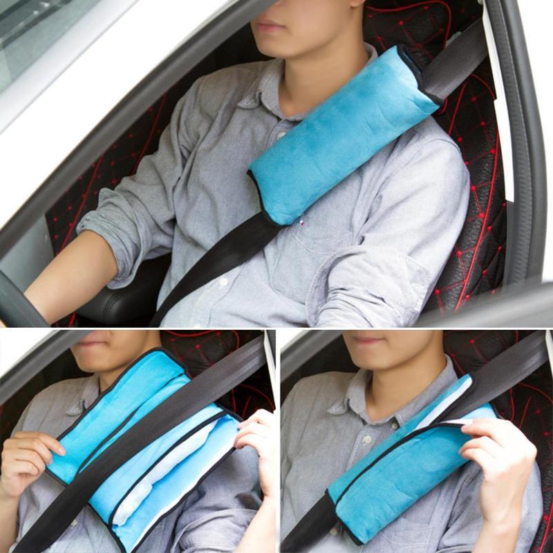 Cinturón de seguridad de asiento de coche para bebé, almohada de arnés, cojín de hombro, funda de ante de protección suave para niños y adultos, 1 Uds.
