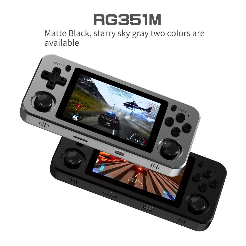 أحدث RG351M ألعاب ريترو ل PS1 N64 PSP واي فاي محاكي RK3326 128G RG351P المحمولة وحدة تحكم بجهاز لعب محمول 3.5 بوصة 2400 ألعاب
