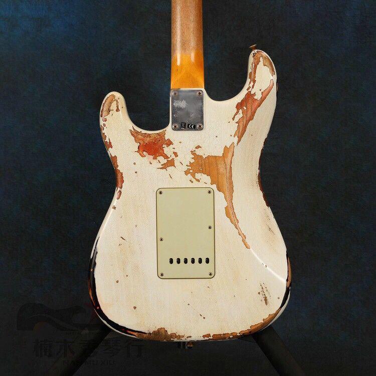 Electric Guitar,relics by hands.rosewood fingerboard.gitaar with relics.handmade 6 stings guitarra. enlarge
