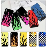 new product fashion flame pattern black silicone mobile phone cover for redmi note 6 8 9 pro max 9s 8t 7 5a 5 4 4x case