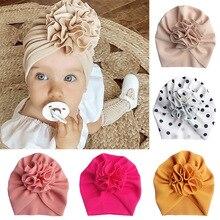 أزهار لطيفة الطفل قبعة طفل عمامة أشرطة رأس الرضع الاطفال بونيه الوليد طفل قبعة قبعة ل 0-18 متر
