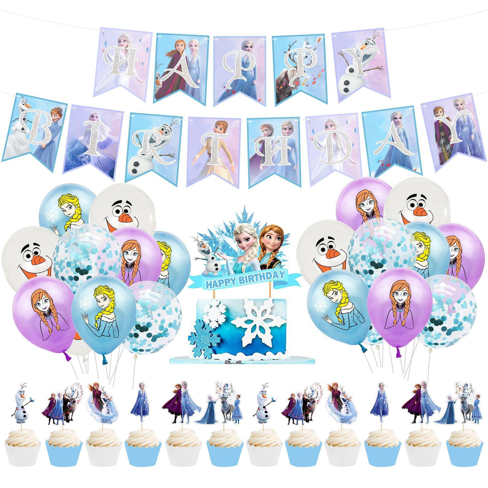 Подарочная одноразовая посуда Disney «Холодное сердце» для девочек