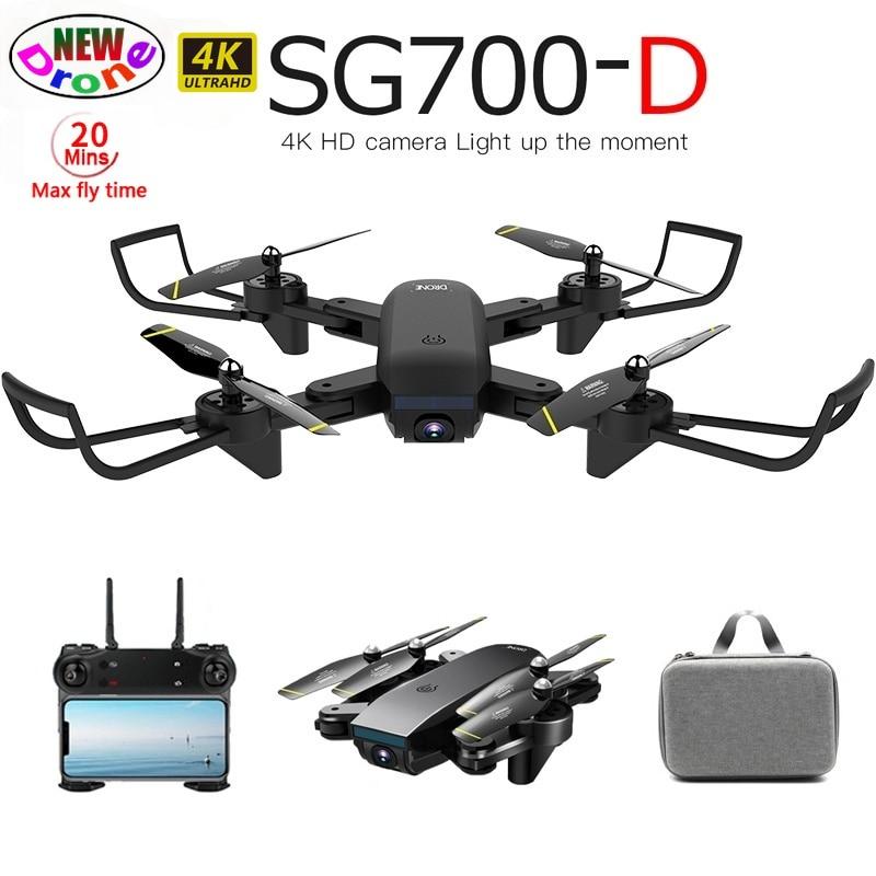 جديد SG700D الطائرة بدون طيار 4K واي فاي FPV كاميرا مزدوجة بدون طيار المهنية زاوية واسعة 50X التكبير البصرية متابعة أجهزة الاستقبال عن بعد الطائرة VS...