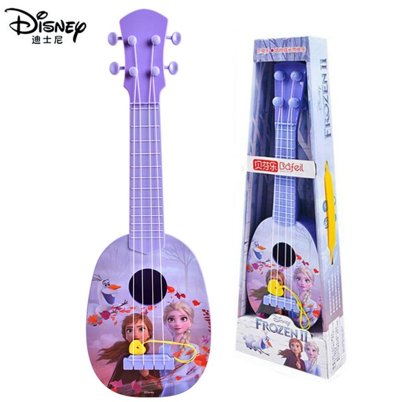 """2020 NOVA Genuine Da Disney Forzen2 36cm/14 """"Ukulele Guitarra ELsa Crianças Instrumentos Musicais de Brinquedo Educação Presentes de Aniversário para meninas"""