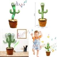 luminous cactus plush toy cactus doll singing dancing light cactus plush toy doll early childhood education toys home decoration