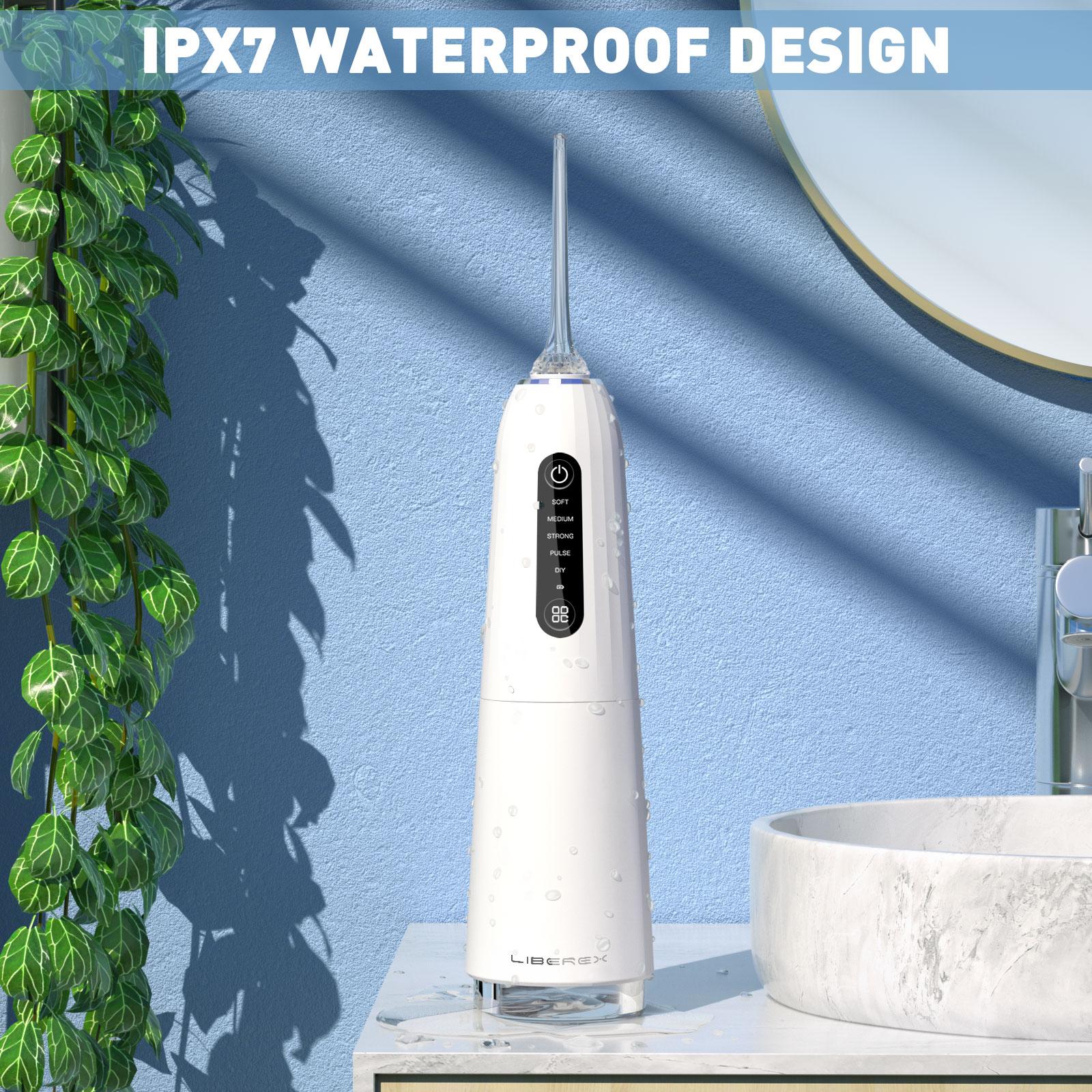 Liberex Portable Oral Irrigator Water Flosser Professional Cordless Dental IPX7 Waterproof Electric Irrigator Dental Teeth Clean enlarge