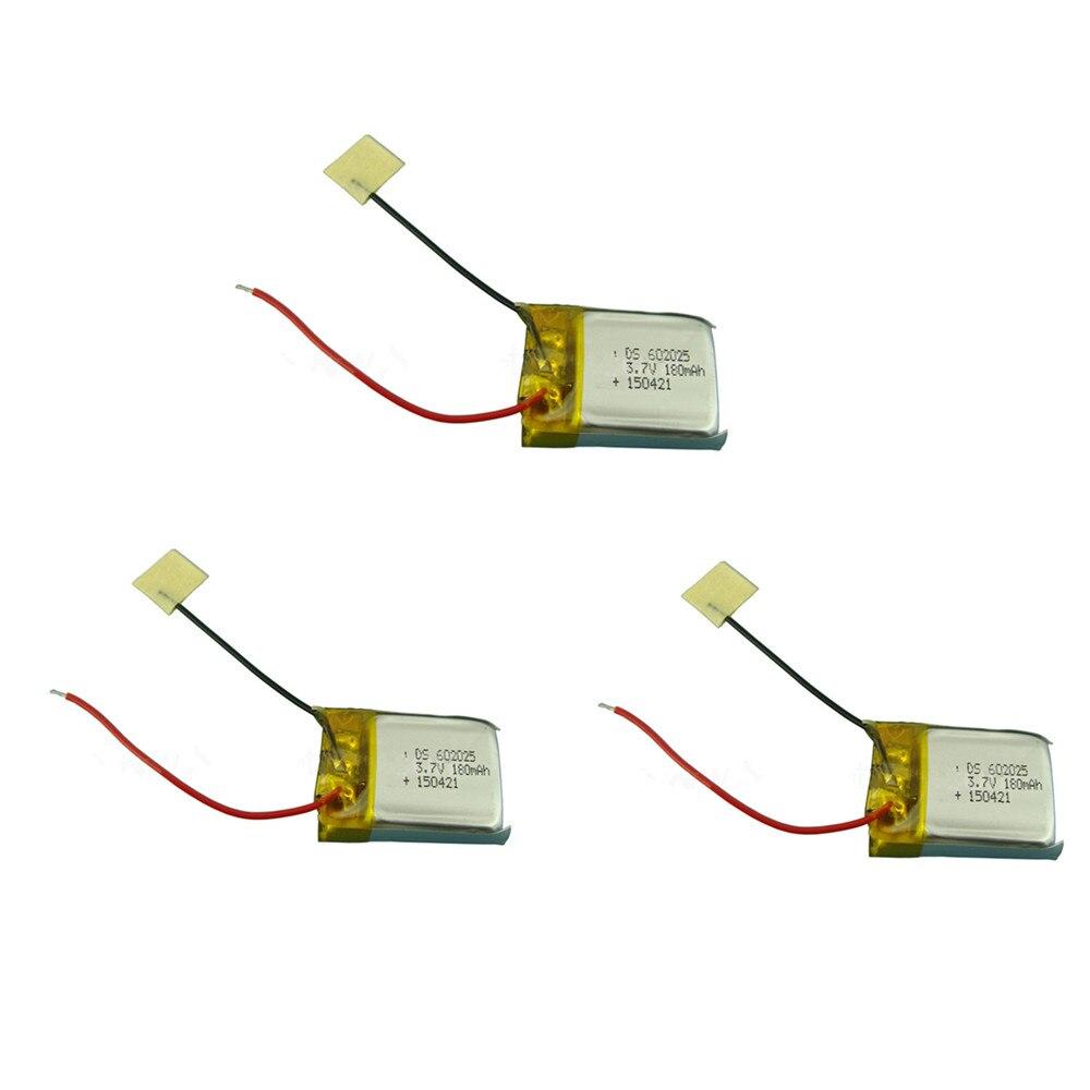 Bateria 3.7 v 180 mah lipo para syma s107 s107g s108 rc helicóptero lipo bateria 3.7 v 602025 para skytech m3 peças de reposição
