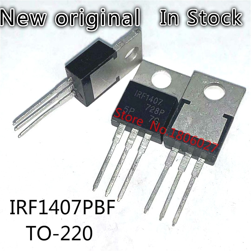 10PCS/LOT IRF1407 TO-220 IRF1407PBF TO220 75V 130A N-Channel MOS FET