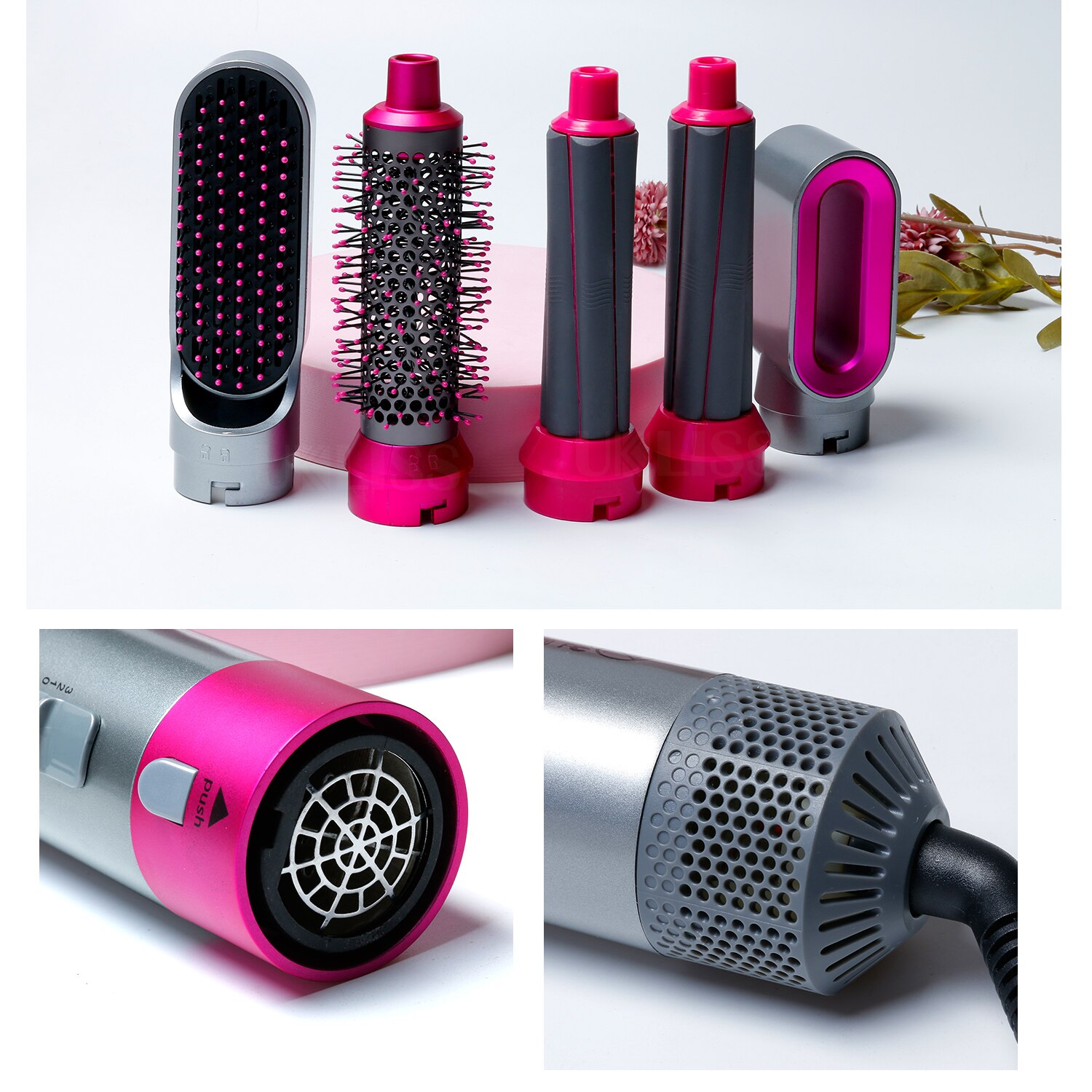 Electric Hair Dryer Brush Negative Ions Blow Dryer Comb 5 In 1 Hair Styler Hairdryer Hair Blower Brush Salon Dryers Curling Iron enlarge