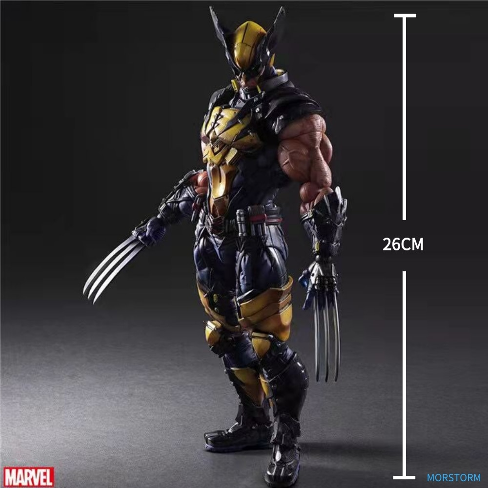 26CM Marvel Hero Wolverine Pvc Joint Movable Model Decoration Doll Gift Action Figure Toy Collection