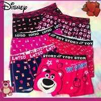 disney 2021 new summer mens underwear japan cute strawberry bear cotton comfortable and breathable adult boxer briefs