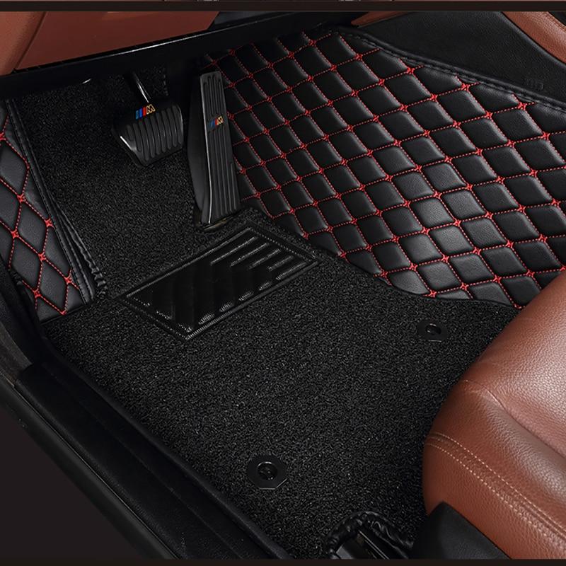 De doble capa de coches alfombras de piso para peugeot 307 sw 508 de 308, 407 sw RCZ, 206, 2008, 3008, 4008, 5008, 408, 107 301car esteras 5 Asiento