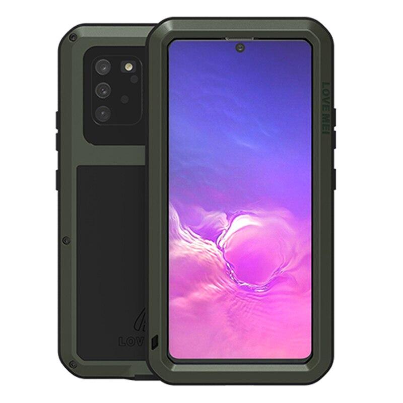 Carcasa metálica para Samsung Galaxy S10 Lite, carcasa a prueba de golpes, carcasa protectora de cuerpo completo 360 para Samsung A91 M80S