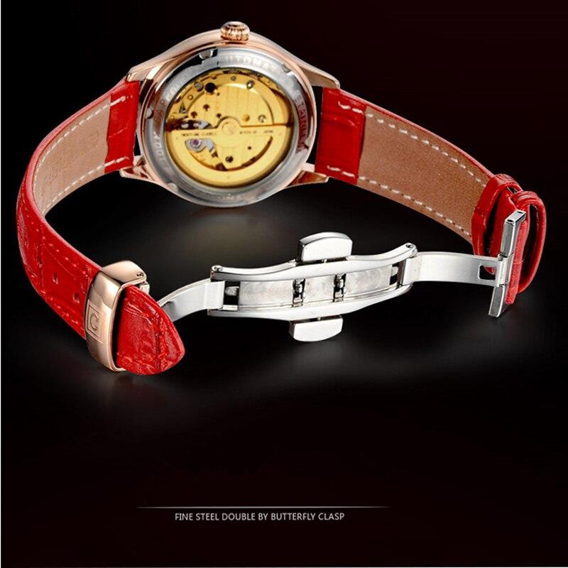 CARNIVAL Brand Ladies Fashion Rose Gold Automatic Watch Women Luxury Waterproof Hollow Mechanical Wristwatch Relogio Feminino enlarge