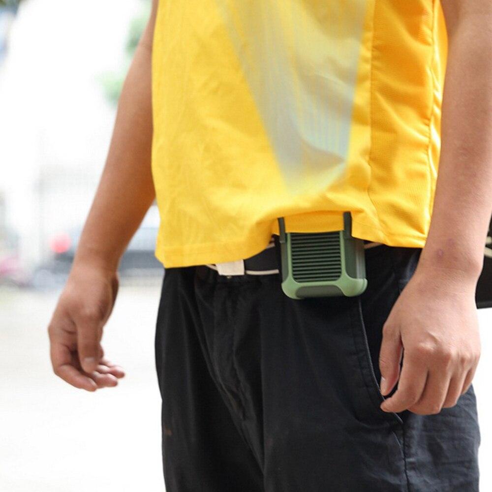 fan Portable USB Mini Fan waist hanging Fan Rechargeable 4000mAH Small Portable Sports three-speed Fan outdoor riding 5