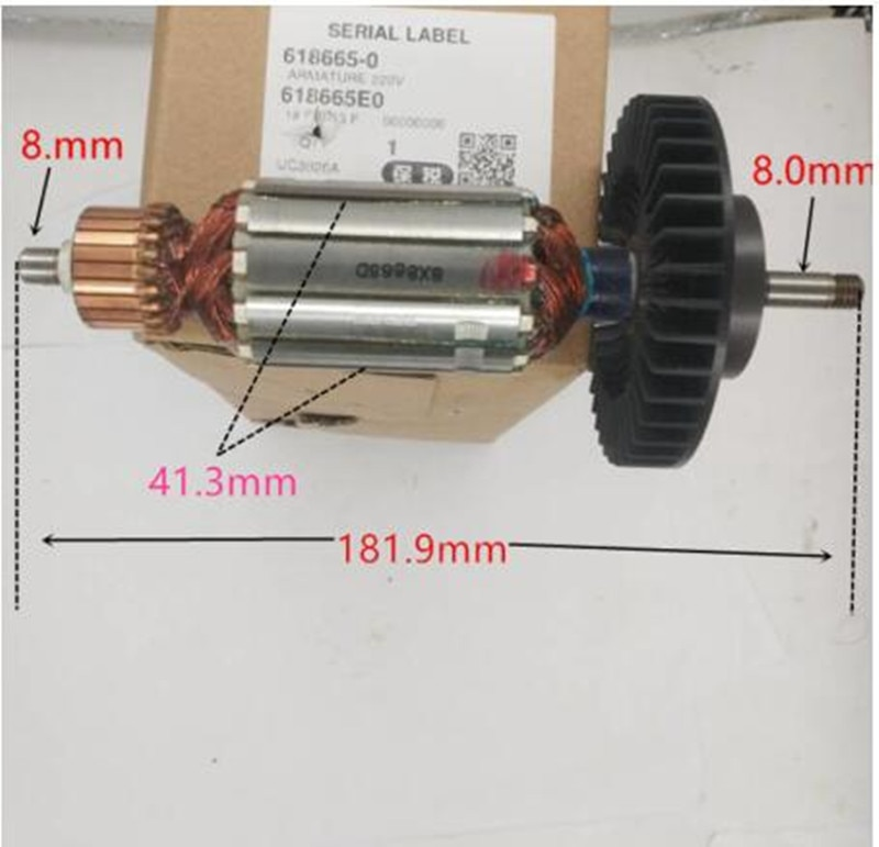 AC220-240V MAKITA 518655-2 Motor de Rotor armadura para UC3020A UC3520A UC4020A del Rotor