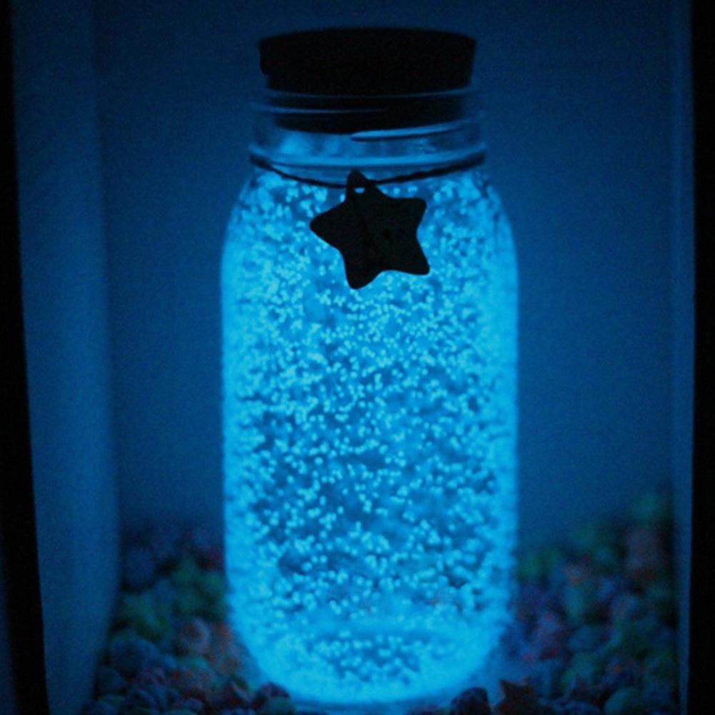 10g de arena luminosa que brilla en la oscuridad fiesta DIY estrellado deseo botella partículas fluorescentes juguetes para decoraciones bodas fiestas