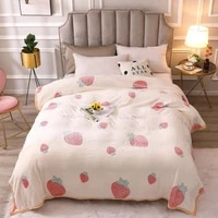 soft blankets for bed thickened warm snow fleece throw blanket cartoon decorative bed blankets for couch travel kids bedding