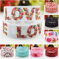 22mm 25mm 38mm 75mm ruban valentines day cartoon character printed grosgrain ribbon party decoration 10 yards mul117