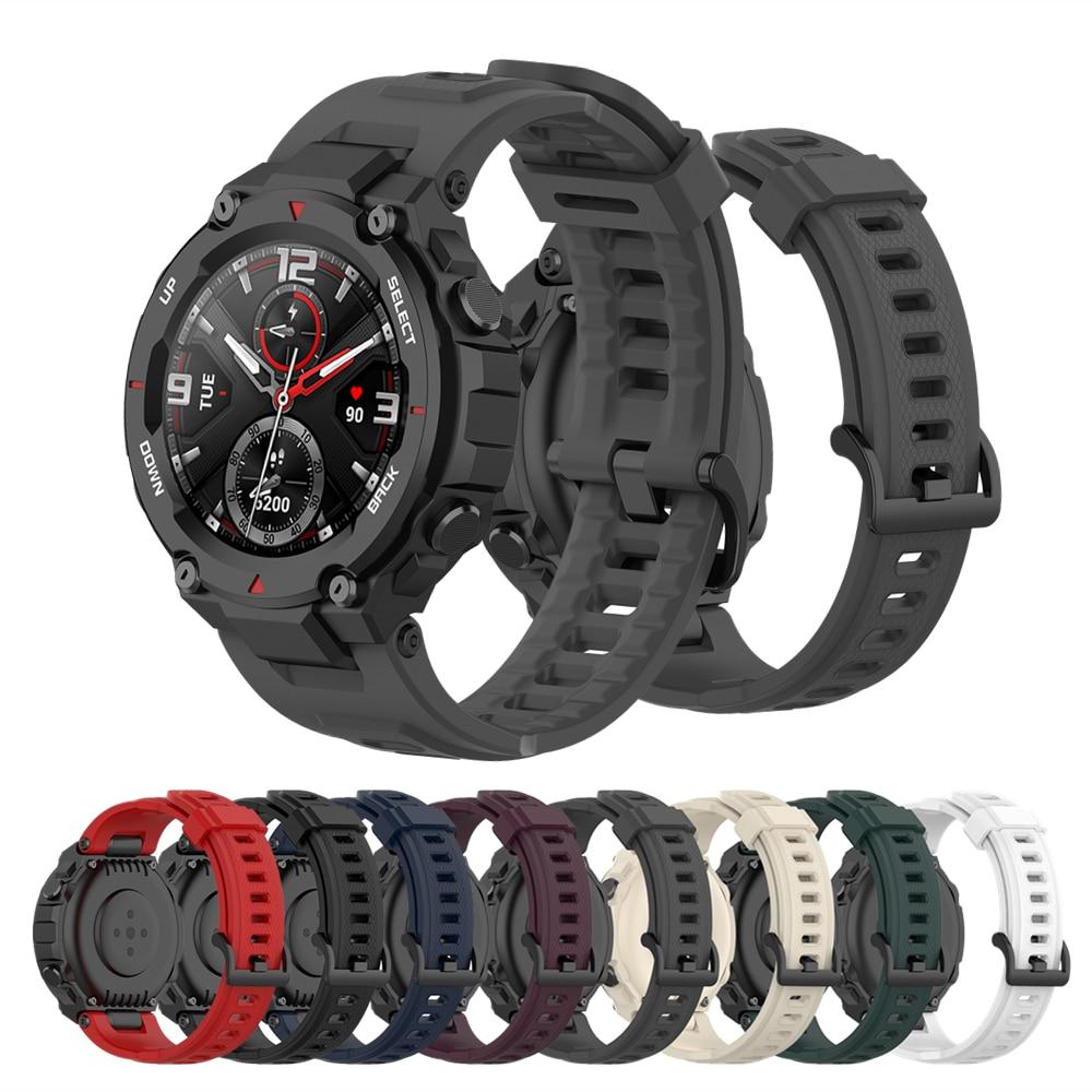 Silicone Band For Huami Amazfit T-Rex Replacement Strap For Xiaomi Amazfit T-REX Pro Smart Watch Bracelet Soft Sport Wrist Strap