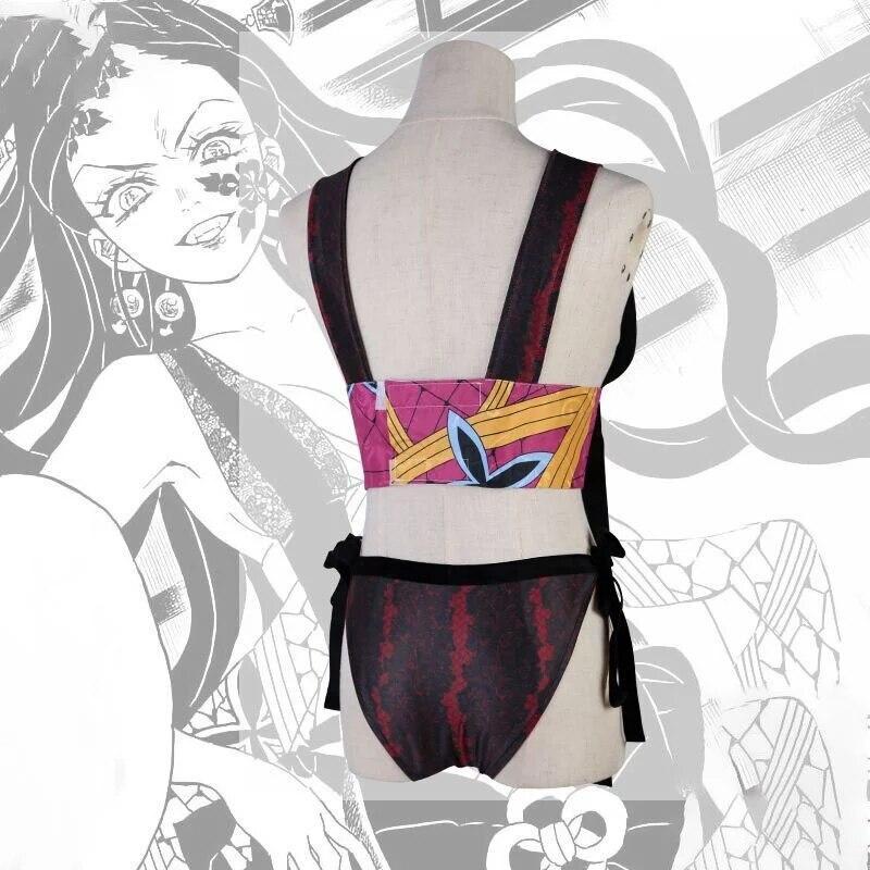 Disfraz de Cosplay de cazador de demonios: Kimetsu no Yaiba párr mujer...