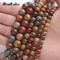 loose beads iron wire 6810mm natural stone beads wooden round for diy making bracelet necklace jewelry beadtales