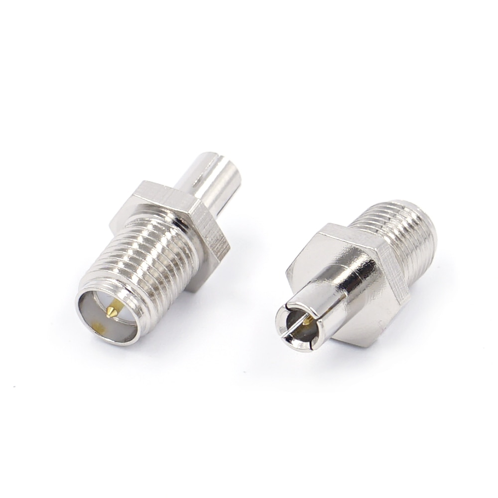 high quality copper rf coaxial coax n male to sma male connector sma to n plug adapter 2pcs RF Coaxial Adapter SMA To TS9 Coax Jack Connector RP SMA Female Jack To TS9 Male Plug Silver
