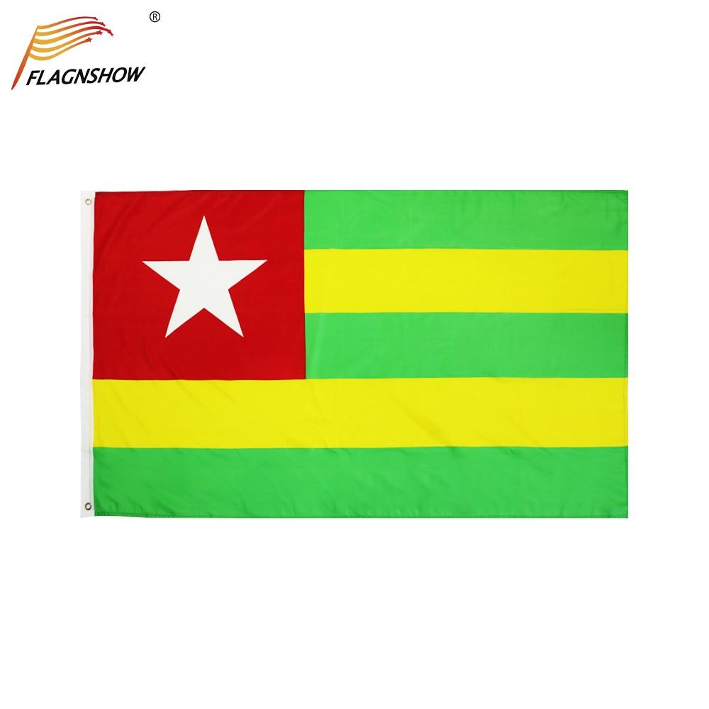 Флаг того Flagnshow, 1 шт., 3 Х5 фута, подвесные флаги Тоголезской Республики, полиэфирные комнатные и уличные флаги для украшения