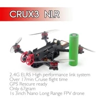 happymodel crux3 nlr elrsf4 2g4 5in1 aio mini m8n gps buzzer caddx ant ex1202 5 kv11500 18650 3inch elrs nano long range drone