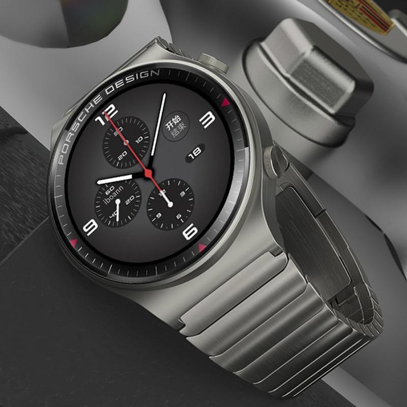 مناسبة لهواوي GT2 برو حزام GT ساعة ECG بورش ساعة معدنية 2e المجد ماجيك الفولاذ المقاوم للصدأ 22 استبدال حزام 2pro الذكية