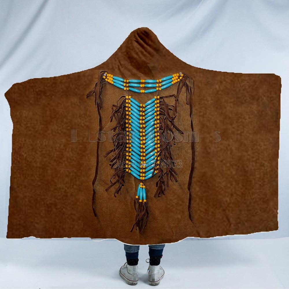 Plstar كوزموس الدب الطوطم/الأصلية الهندي مقنعين بطانية 3D كامل طباعة لبس بطانية الكبار الرجال النساء نمط-3