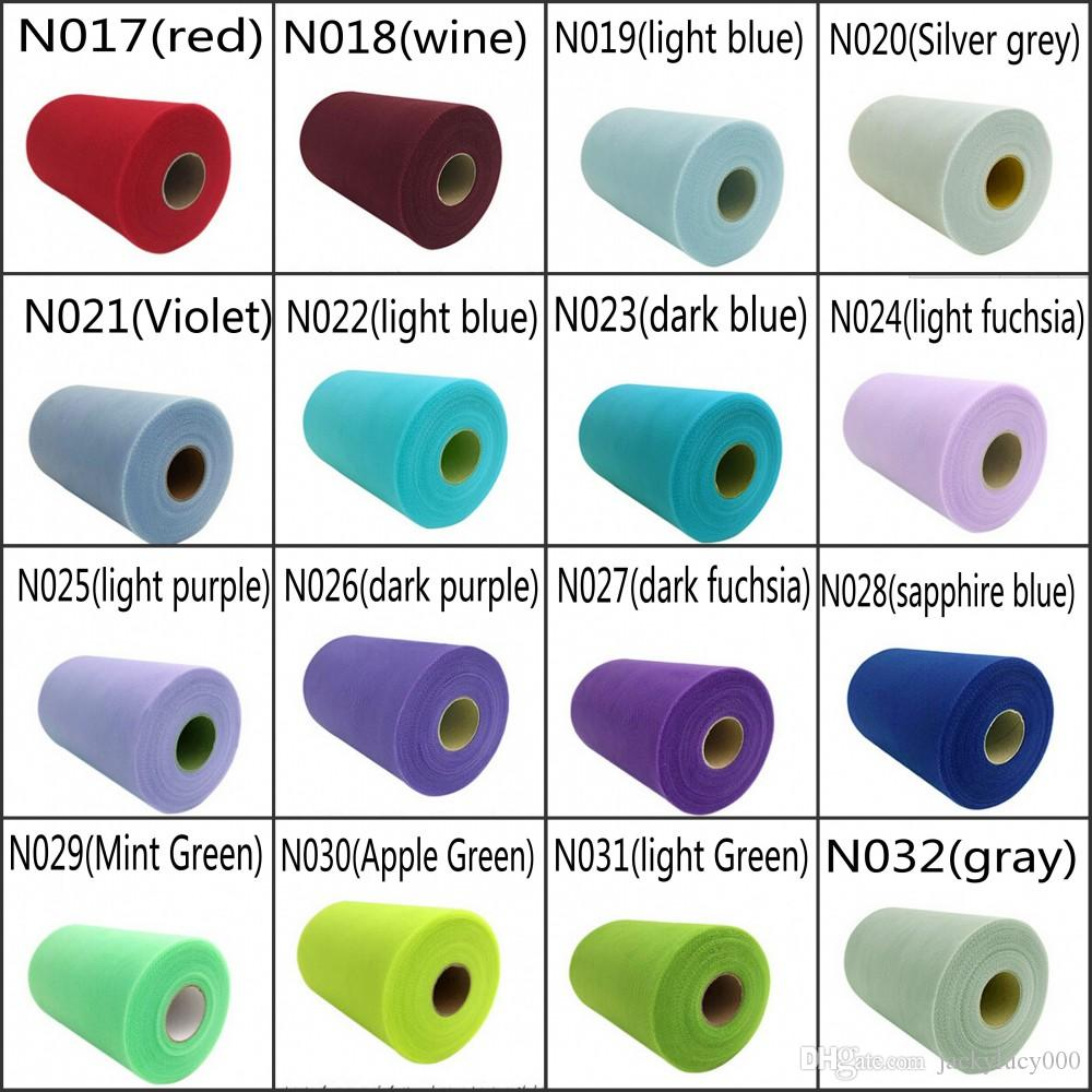 Bobine de Tulle en maille mate 44 couleurs   Bobine de 6