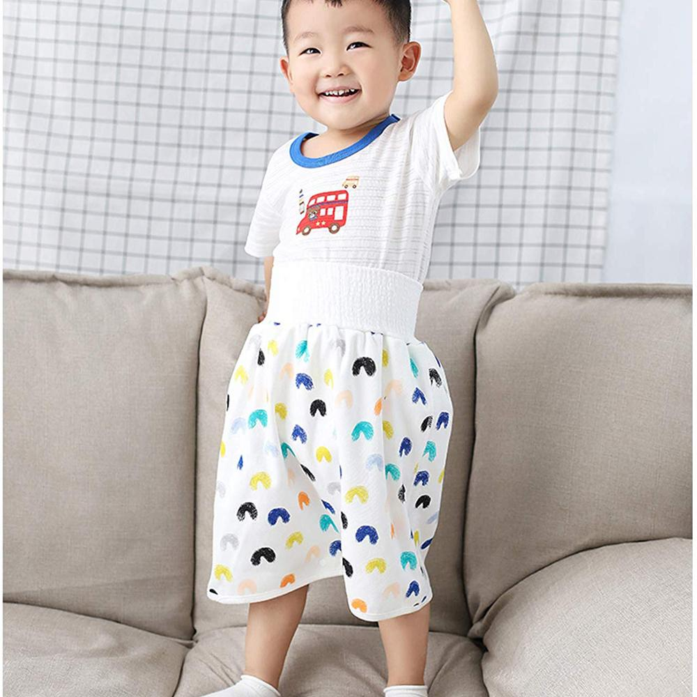 Impermeable, pañal de tela, faldas de orina, pantalones de entrenamiento de algodón para niños, bebés, niñas, ropa de cama para dormir, orinal, entrenamiento