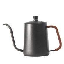Drip Wasserkocher 350ml 600ml Kaffee Tee Topf Teflon Nicht-Stick Food Grade Edelstahl Schwanenhals Drip Wasserkocher swan Neck Dünne Mund