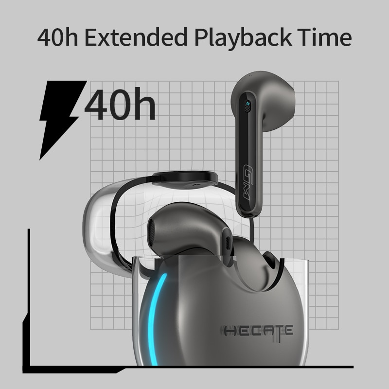 HECATE GM5 Gaming TWS Earphones Wireless Bluetooth Earbuds 60ms Low Latency Support AptX Noise Cancellation Dual Mic enlarge