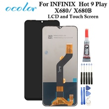 Ocolor для INFINIX Hot 9 Play Hot 9, ЖК дисплей и сенсорный экран 6,82 дюйма, дигитайзер в сборе, замена для INFINIX X680 X680B