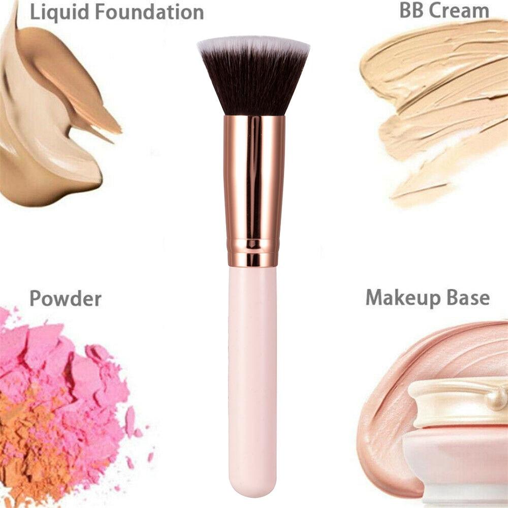 Luxury Champagne Makeup Brushes Flat Top Foundation Brush Large Face Brush Repair brush contour brus