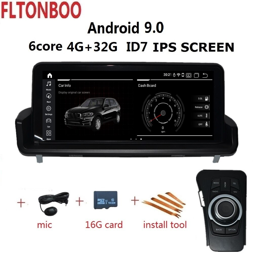 "10,25 ""Android 8,1 Автомобильный Gps радио плеер навигация ID7 для BMW E90 E91 E92 E93 3 серии 6 ядер wifi bluetooth 2 Гб ram 32 Гб rom"