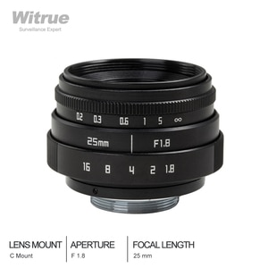 25mm F1.8 Mini CCTV C Mount Wide Angle Optical Lens for Sony for Nikon for Canon DSLR Camera