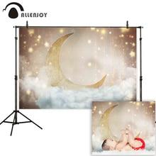 Allplay-photographie photophone, toile de fond en or, ciel de lune, étoiles, nuage,