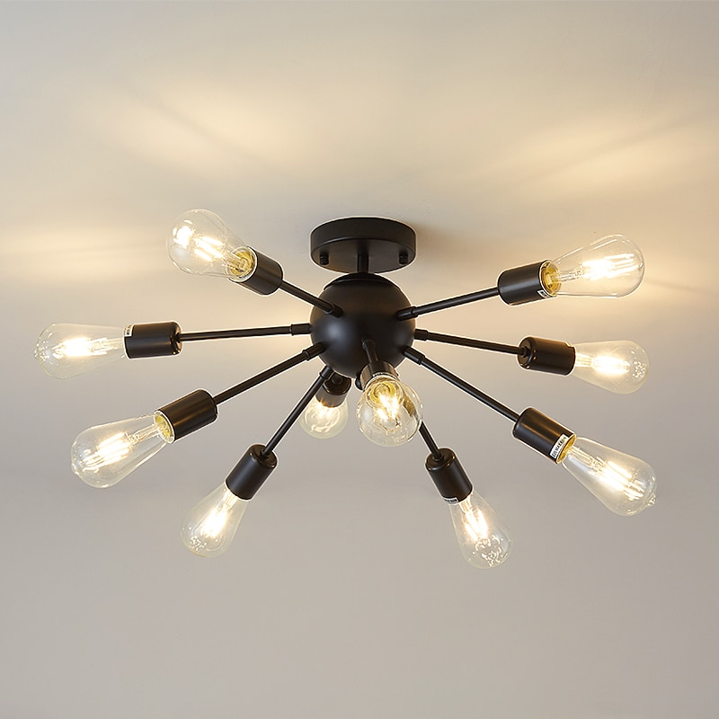 FSS-مصباح سقف LED بتصميم عصري ، تصميم شمالي حديث ، إضاءة داخلية ، مصباح سقف مزخرف ، لون ذهبي ، مثالي لغرفة المعيشة أو غرفة النوم ، 10 وحدات