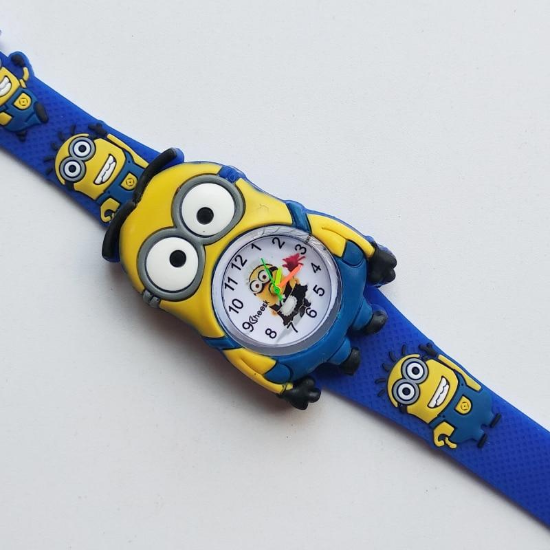2019 New Little yellow man Watches for Children Kids Watch Leather Quartz Wristwatches baby boy Girl