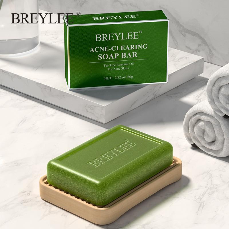 Face Cleaning Soap Tea Tree Oil Organic Hyaluronic Acid Serum Moisturizing Acne Treatment Handmade Soap Repair Whitening