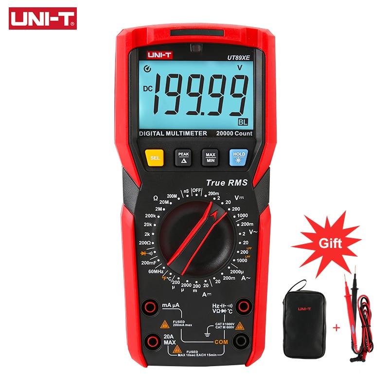 UNI-T UT89XE رقمي متعدد المهنية تستر صحيح RMS دليل تتراوح DC AC الفولتميتر مقياس التيار الكهربائي مكثف درجة الحرارة متر